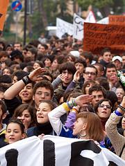 europa manifestazioni universita