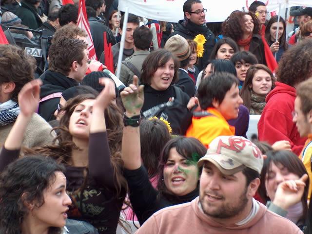 Studenti sciopero Cgil