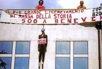 università Lecce protesta studenti tetto