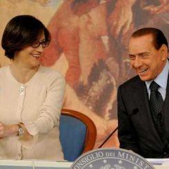 Mariastella Gelmini e Silvio Berlusconi