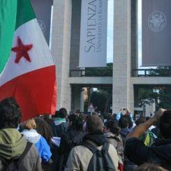 Manifestazione studenti a Roma