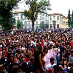 Corteo studenti a Firenze