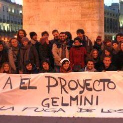 Studenti contro il ddl Gelmini a Madrid