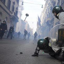 Gli scontri del 14 dicembre a Roma