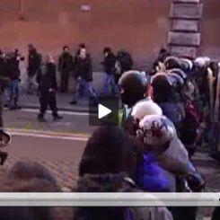 Video scontri Roma 14 dicembre