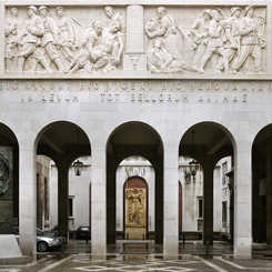 Il cortile del Bo a Padova