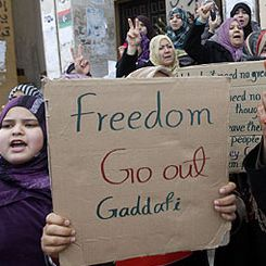 Proteste contro Gheddafi in Libia