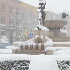 Universita chiuse per neve a Modena e Bologna